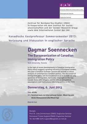 Poster Guest Lecture Dagmar Soennecken