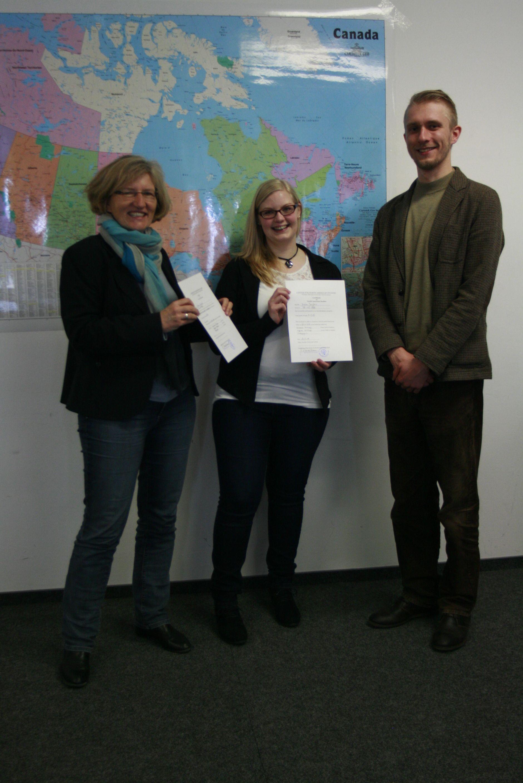 Zertifikatsübergabe Jessica Janßen 26.03.2014