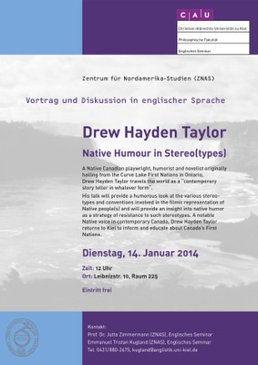 Poster Guest Lecture Drew Hayden Taylor 2014